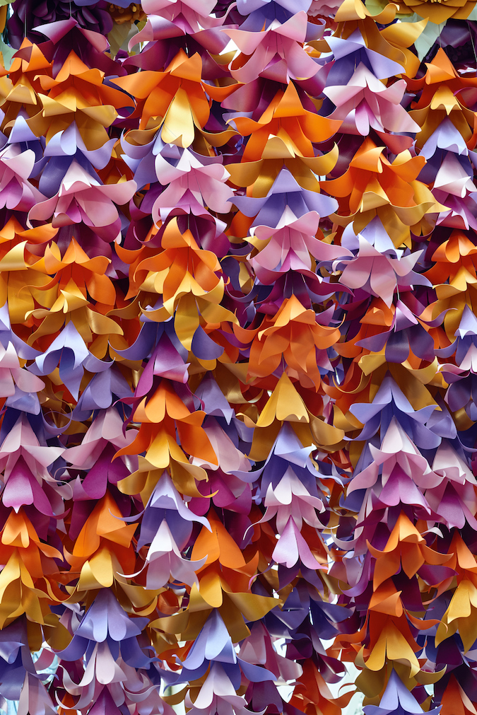 Floral Paper Chandeliers By Zoe Bradley
