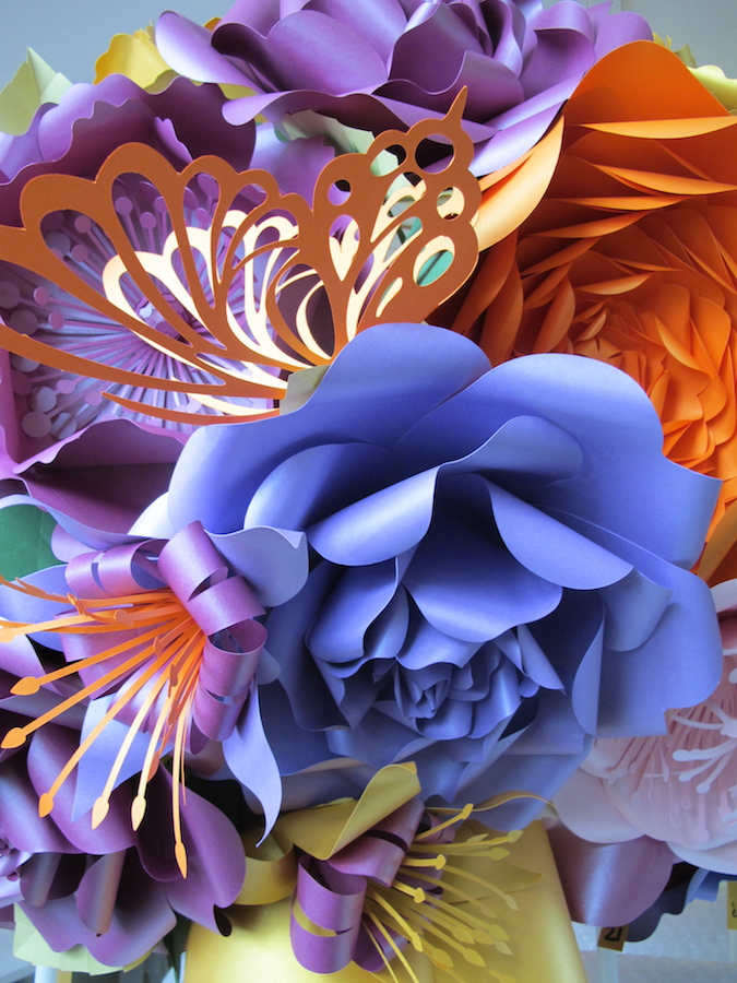 Stunning Floral Paper Chandeliers By Zoe Bradley Artistic Odyssey