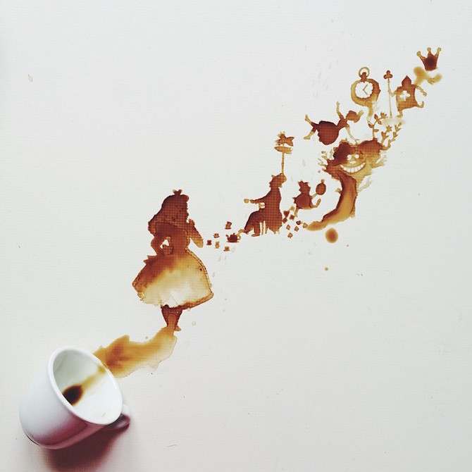 Artist Giulia Bernardelli Transforms Spilled Food Into Art