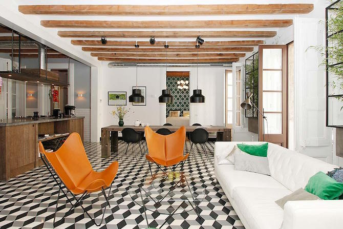 Contemporary Apartment In Barcelona, Spain