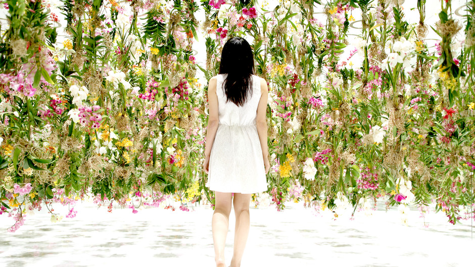 Stunning Installation of 2,300 Floating Flowers
