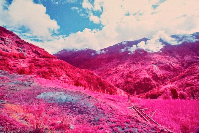 Annapurna Himalayan Range, Nepal in Psychedelic Hues by Sean Lynch