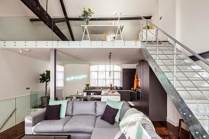 Michelle Chaplin Interiors Turned This Factory In East London Into A Loft Apartment.
