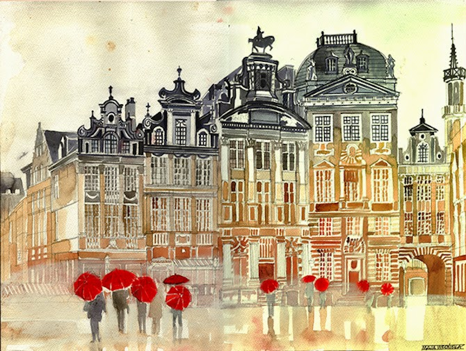 Intricately Detailed Watercolor Paintings by illustrator Maja Wronska