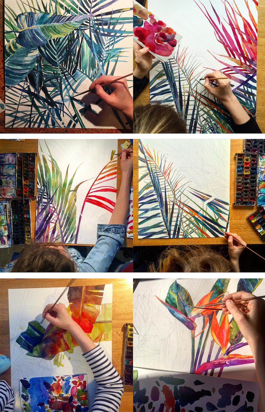 Mesmerizing Watercolor Paintings by Maja Wronska