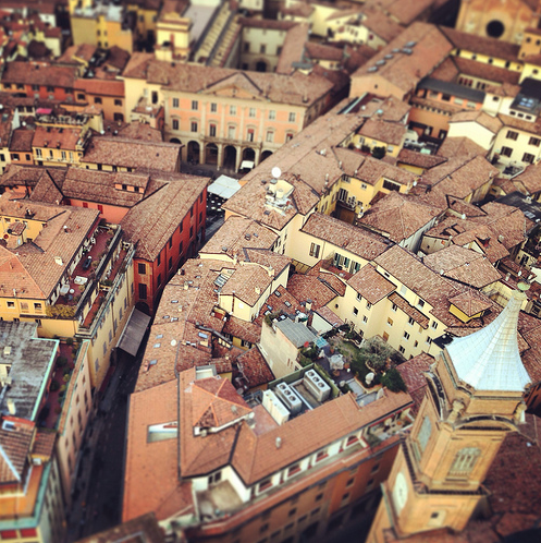 Miniature Bologna, Italy by Photographer Matteo Fagiolino