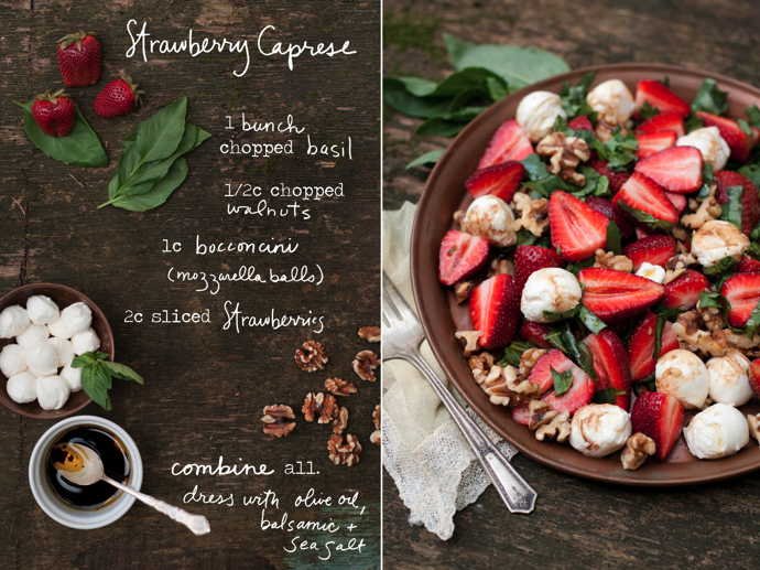 The Perfect Spring Salad: Strawberry Caprese