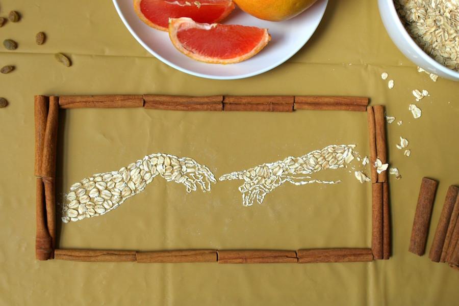 Artist Sarah Rosado Recreates Famous Paintings with Oatmeal