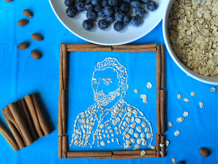 Artist Recreates Famous Paintings With Oatmeal