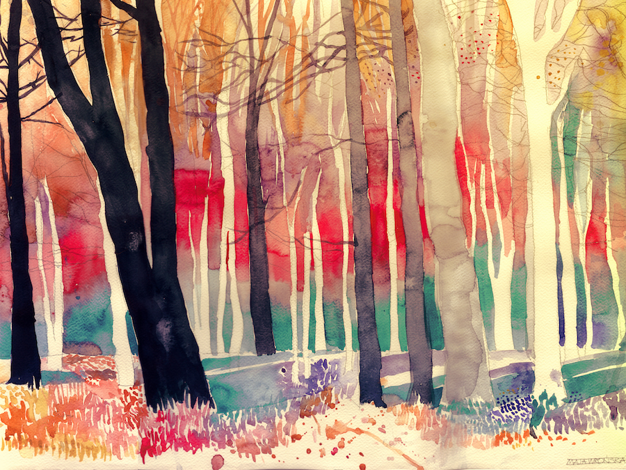 Mesmerizing Watercolor Paintings by Maja Wronska