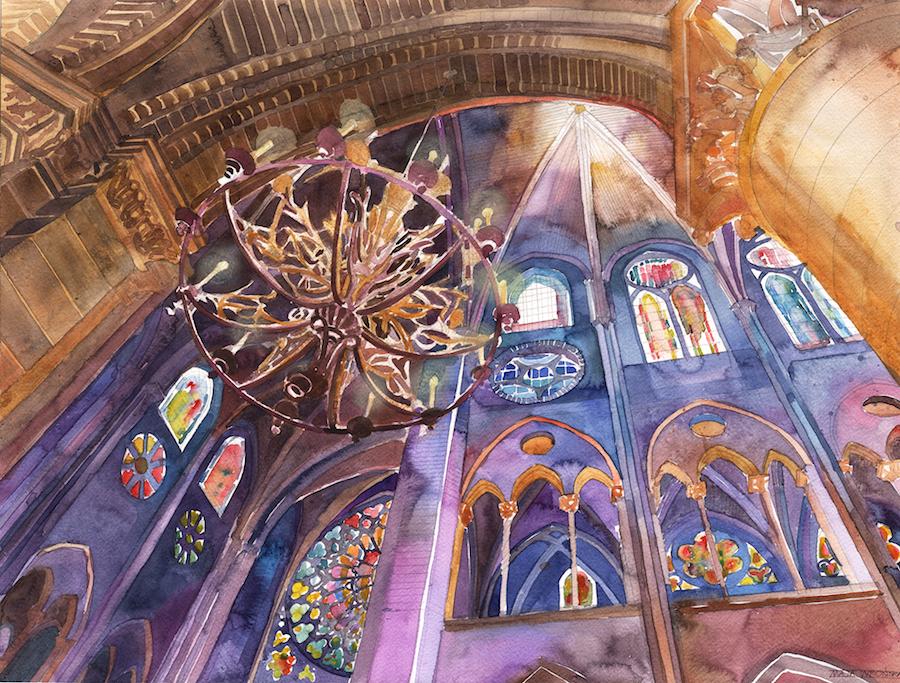 Architect and illustrator Maja Wronska Watercolor Paintings