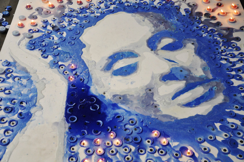 Artist Red Hong Yi Adele Made Of Melted Candles