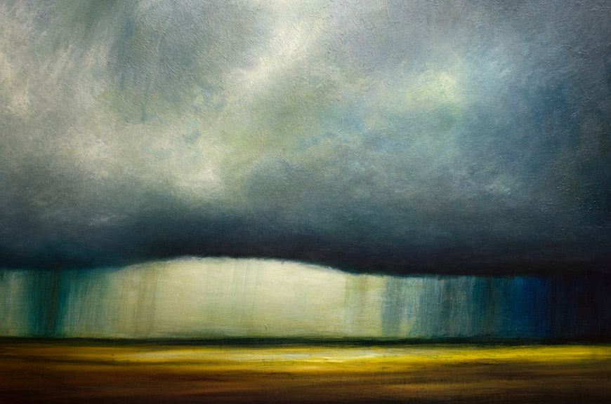 Magnificently Moody Paintings Capture Rich Atmospheric Storms