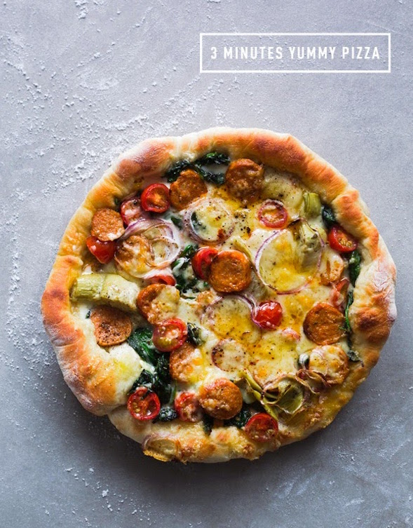 The Perfect 3 Minuted Skillet Pizza