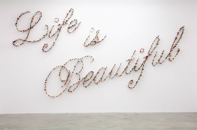 Life Is Beautiful, Is An Installation By Iranian Artist Farhad Moshiri