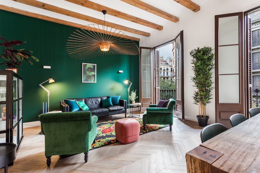 A Stunning Eclectic Apartment in Barcelona by Nobohome