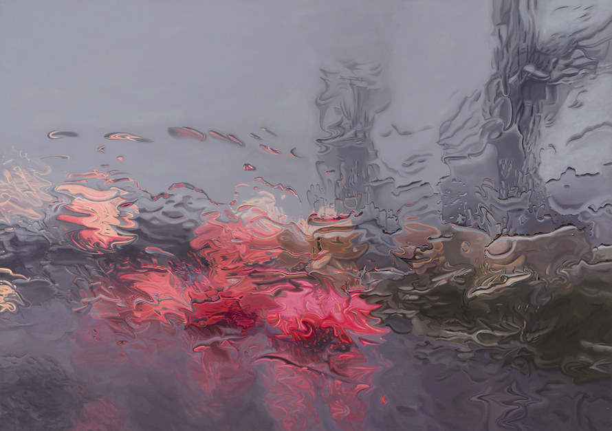 In his series, Under the unminding sky, Gregory Thielker's captures the beauty of rainy landscapes through incredibly hyper realistic artworks.