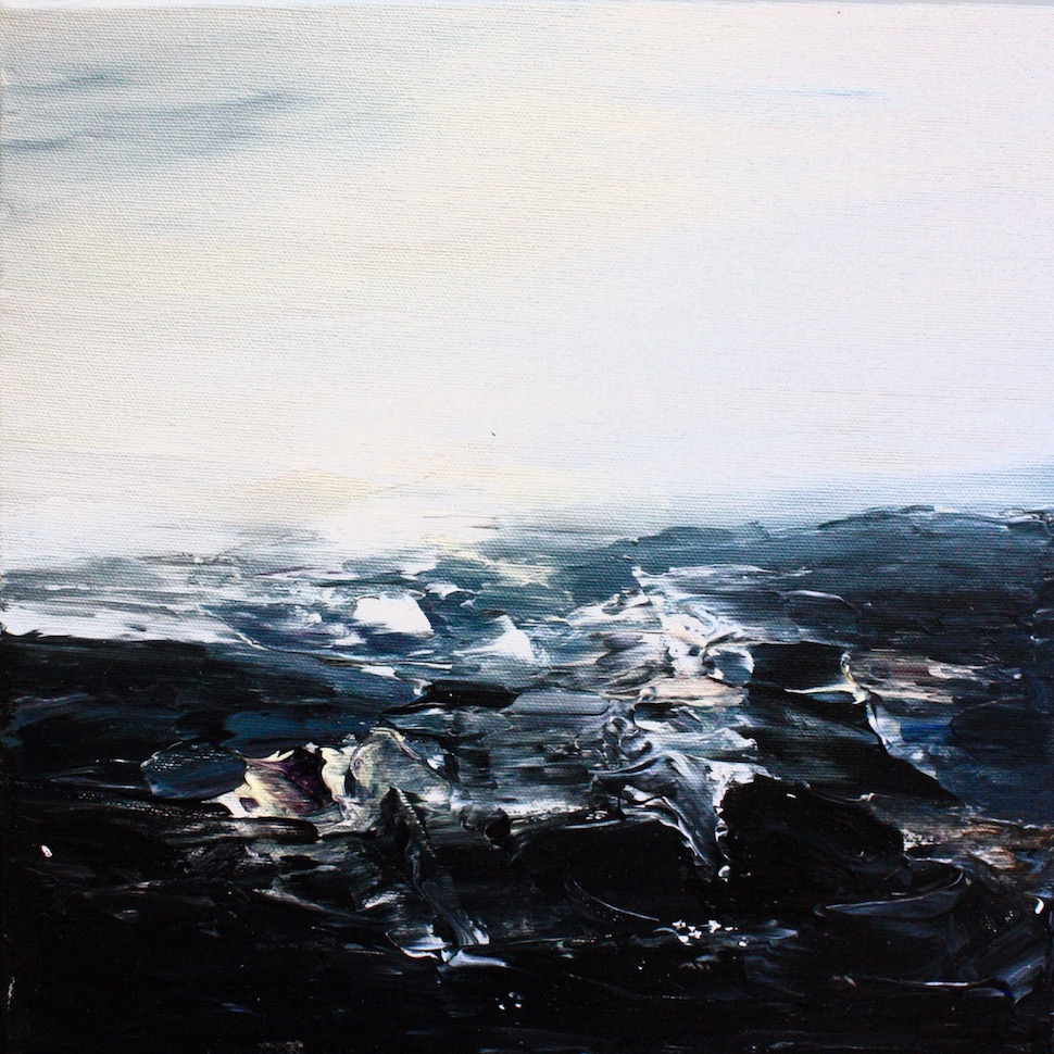 "Abstract Expressionist ""Seascape"" Paintings by Artist Rana Maghlouth Convey Human Emotions via Ocean Waves"