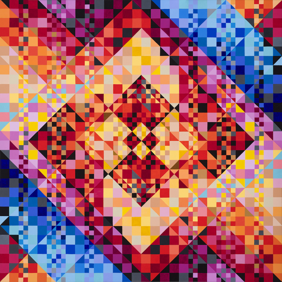 Mesmerizing Geometric Paintings By Nina Baxter