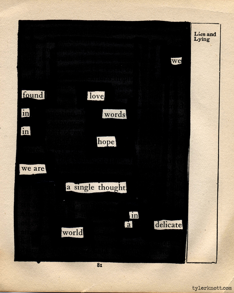 Delightfully Creative Blackout Poems By Tyler Knott Greyson.