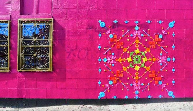 French Artist Mademoiselle Maurice Creates Eye-catching Origami Street Art.