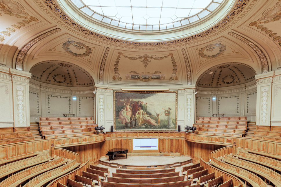 Stunning photographs of La Sorbonne in Paris, France: Paris-based photographer Ludwig Favre captures beauty of amphitheaters at the Paris-Sorbonne University.