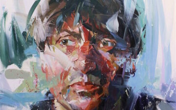 It is captivating to see how Paul Wright's sharp, rough paint strokes come together to create such soothingly elegant depictions of people and places.